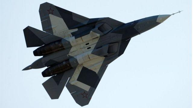 「Su57」の写真。シリアの実戦で使われたのを確認した情報はない