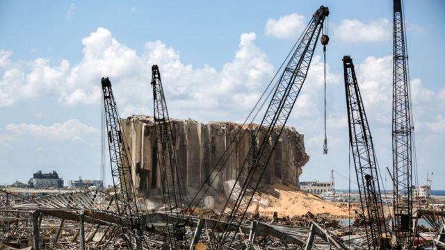 بندر بیروت بعد از انفجار