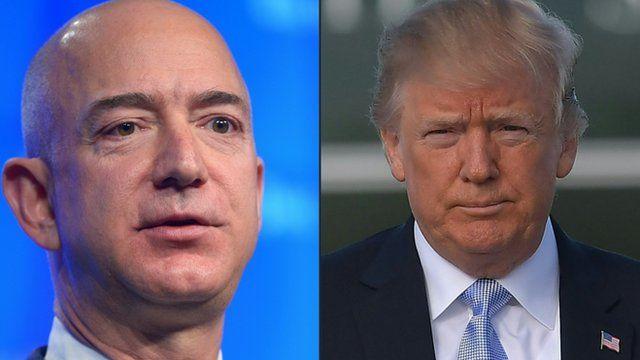 Jeff Bezos e Donald Trump