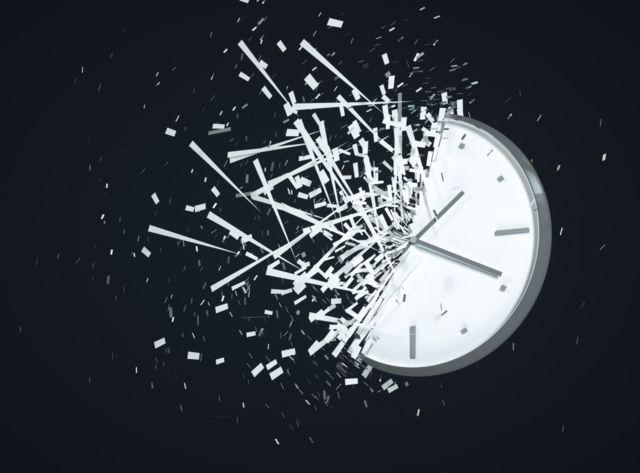 Reloj que se rompe