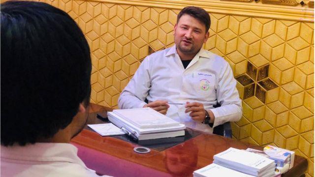 دکتر فریدون لطیفی، متخصص بهداشت روان در ولایت بلخ در شمال افغانستان