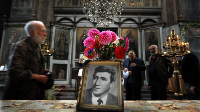 Служба в память о Георгии Маркове