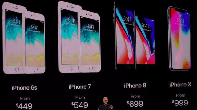 Iphone X có giá 999 USD (999 bảng ở Anh)