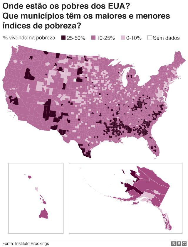 Gráfico mostra distribuição da pobreza por municípios