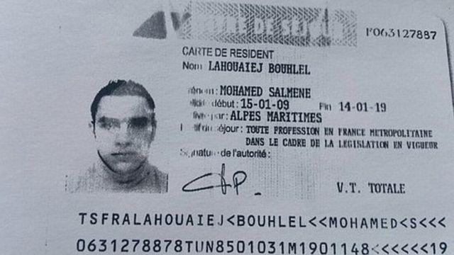 ラフエジブフレル容疑者の在住許可証の写し