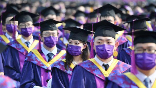 2021年清华大学学生毕业典礼。