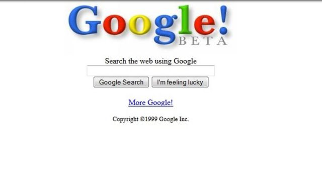 Google en 1999