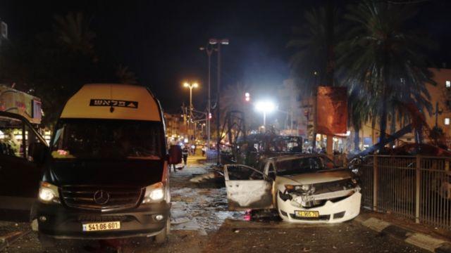 شهر حولون در جنوب تلآویو هم هدف راکت های حماس قرار گرفت