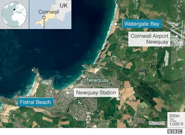 Newquay map