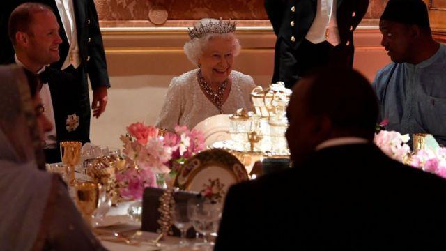Королева Елизавета II ужинает с лидерами Содружества в 2018 году