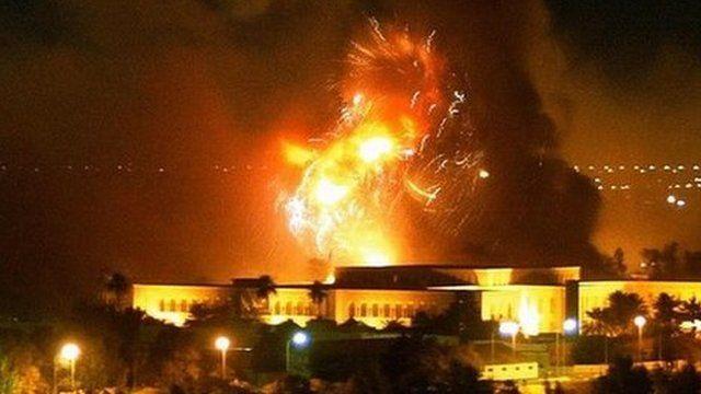Bombing raid, Baghdad 2003