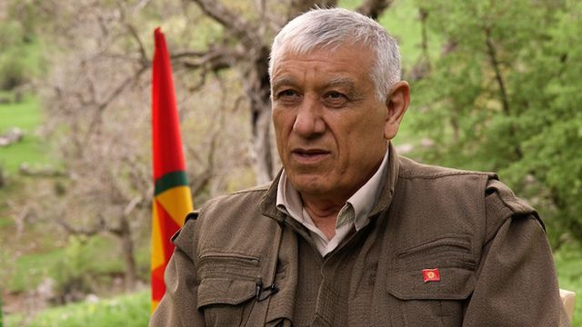 PKK leader Cemil Bayik talks to the BBC