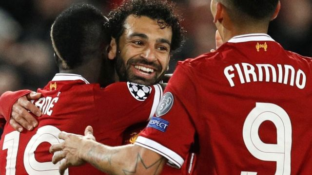 Sadio Mane, Mohamed Salah and Roberto Firmino