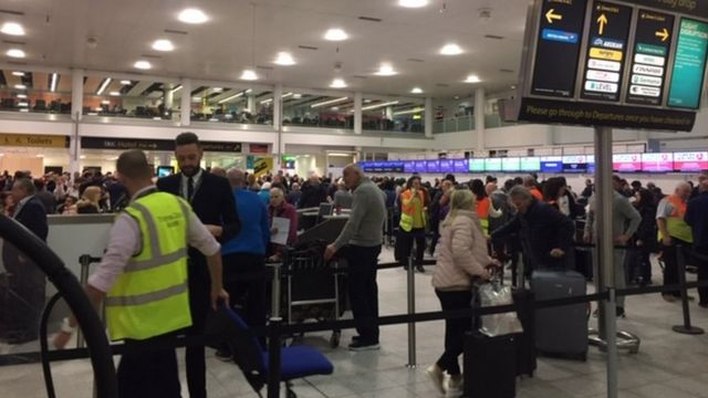 Gatwick Airport on Friday morning