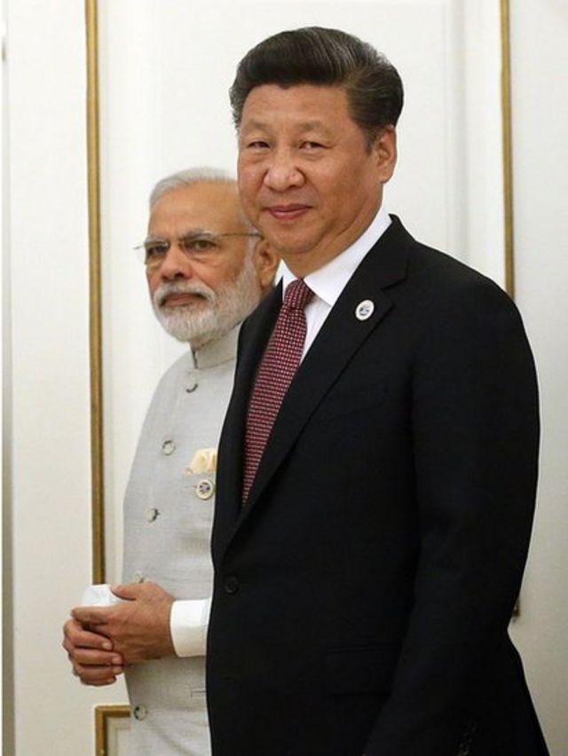 Xi y Modi en 2016.