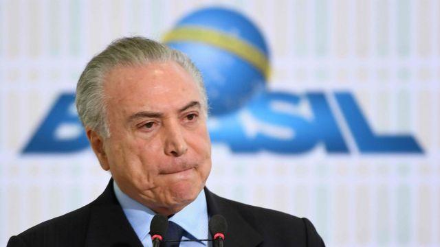 El presidente de Brasil, MicherTemer