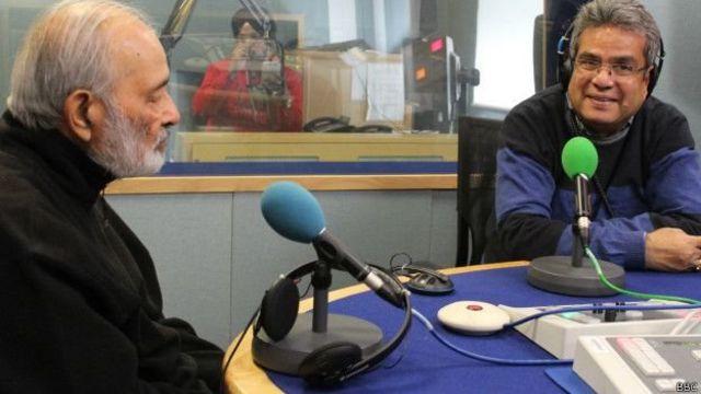 विदेश मंत्रालय में सचिव रहे लखन लाल मेहरोत्रा, बीबीसी स्टूडियो में रेहान फ़ज़ल के साथ