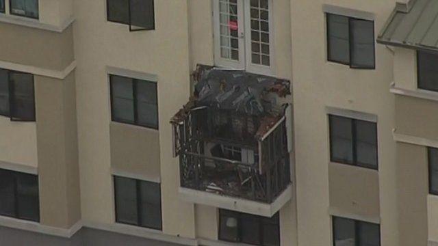 Collapsed balcony in California