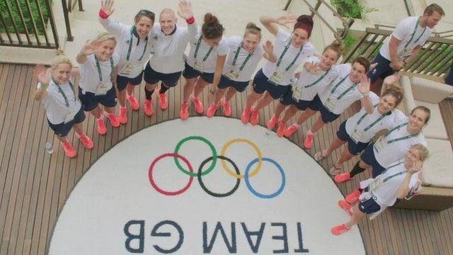 Team GB in Olympic village