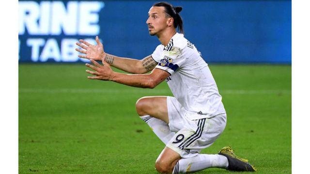Ubu Zlatan Ibrahimovic akina mu murwi wa LA Galaxy muri Amerika