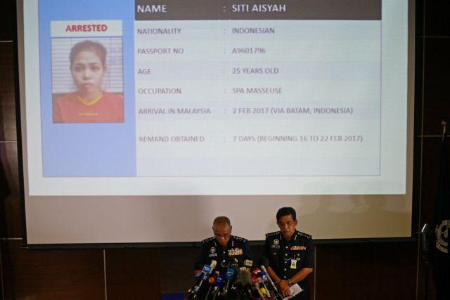 馬來西亞警方介紹被捕嫌疑人之一印尼籍女子艾希亞(Siti Aisyah)情況