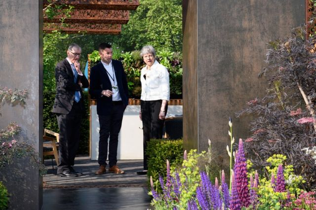 Prime Minister Theresa May at the Chelsea Flower Show