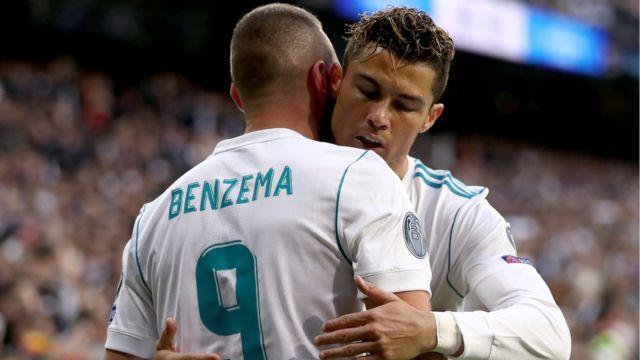 Karim Benzema y Cristiano Ronaldo