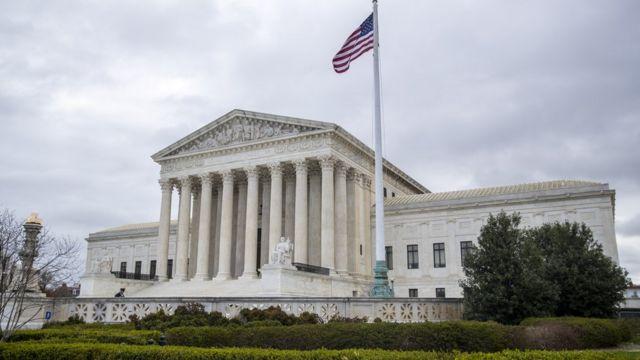 美国最高法院大楼外观(31/3/2021)