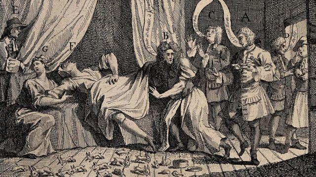 Ilustração de Mary Toft