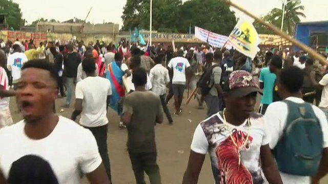 Clashes in Kinshasa