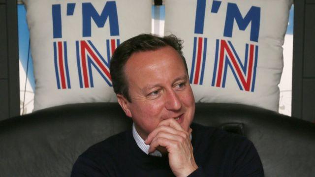 O primeiro-ministro David Cameron é favorável à permanência do Reino Unido ao bloco