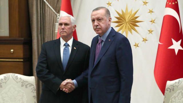 Cumhurbaşkanı Erdoğan ve ABD Başkan Yardımcısı Mike Pence