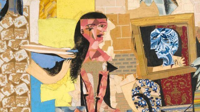 Reprodução de quadro de Picasso