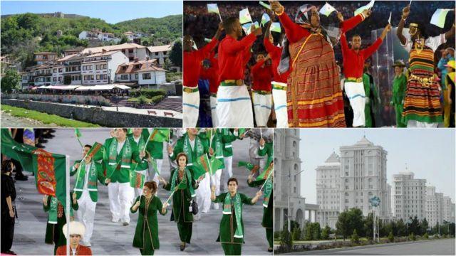 Delegações do Turcomenistão e Djibuti