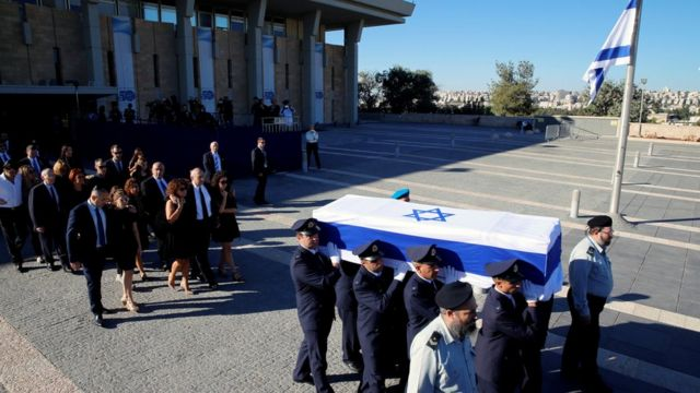 مراسم تشیع جنازه شیمون پرز