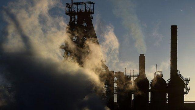 Tata steel plant in Port Talbot, Wales