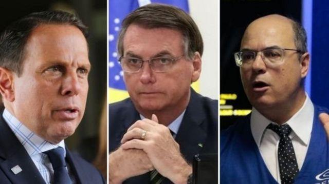 João Doria, Jair Bolsonaro e Wilson Witzel