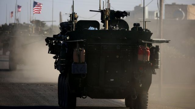 US armoured convoy in Syria (file photo)