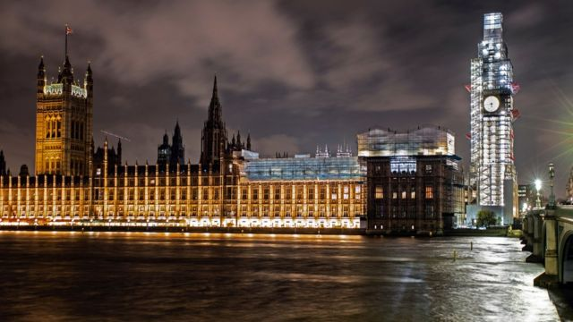 Fachada do Parlamento britânico