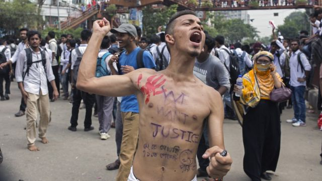 정부는 시위 발생 이후 24시간 동안 모바일 핸드폰 접근을 차단했다