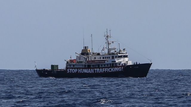 Stop Human trafficiking ship on Mediterranean