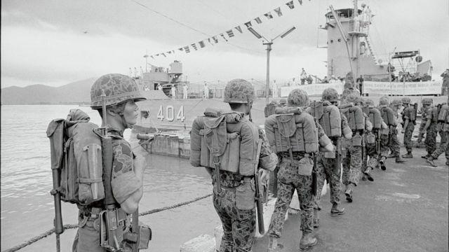 South Korean soldiers during the Vietnam War