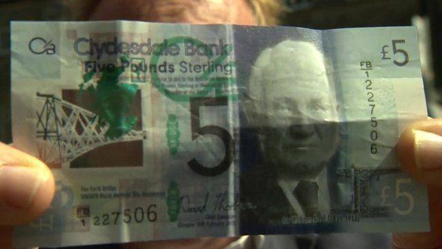 Scottish plastic £5 note