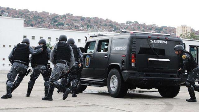Efectivos del Servicio de Inteligencia Bolivanariana, Sebin.