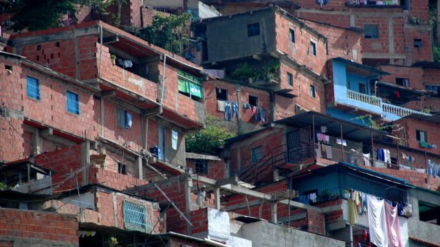 Slum in Caracas, Venezuela
