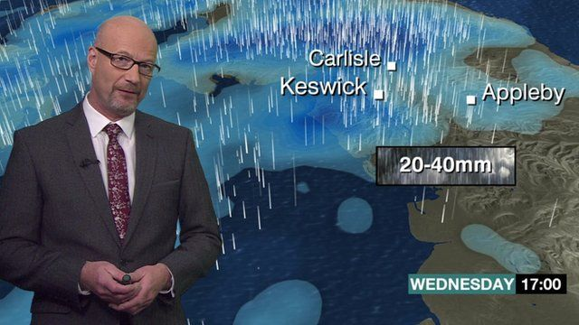 Weather forecast for Cumbria