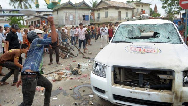 Một vụ bạo loạn từng xảy ra tại cuộc bầu cử năm 2013