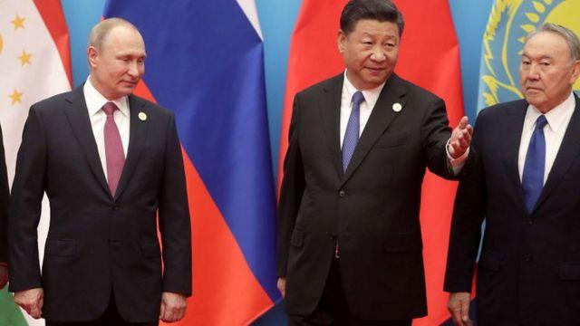 Путин, Си, Назарбаев на саамите ШОС в 2018 году