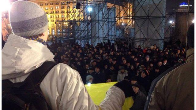 Мітинг проти торгівлі з непідконтрольними територіями Донецької і Луганської областей