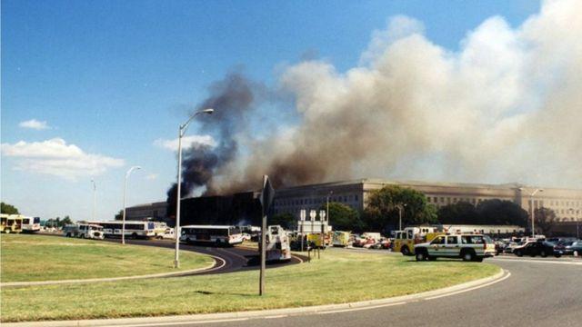 Пентагон после атаки 11 сентября